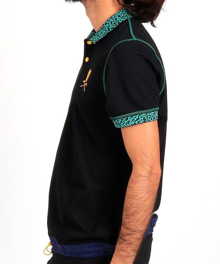 ML 裾ドロストデザインポロのコーディネート写真