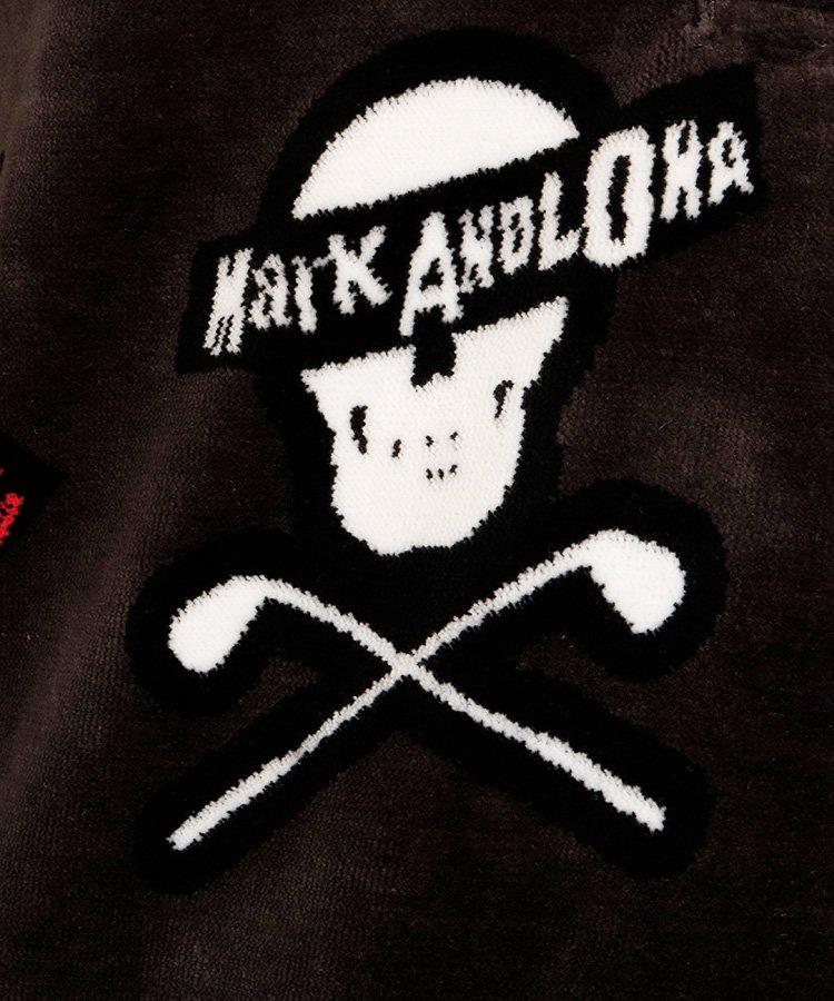 ML Skullデザイン◆パイルカット起毛ポロのコーディネート写真