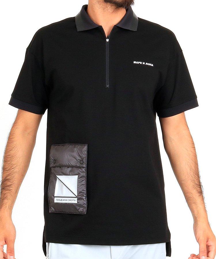 マーク&ロナ ML 【BLACKBOX】ポケットデザインZipUpポロ