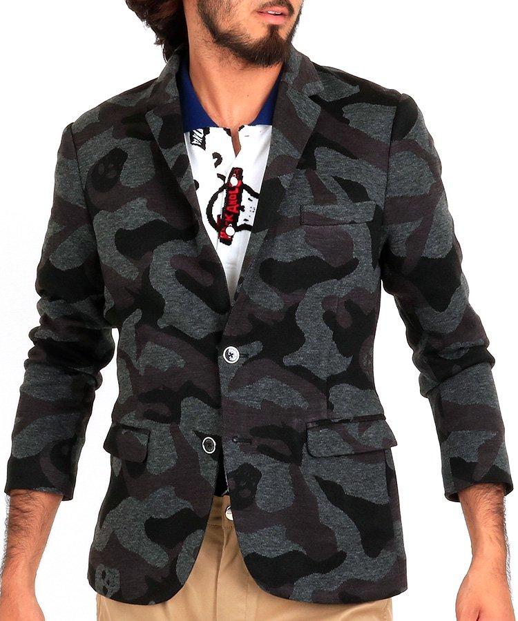 ML スカルカモフラ◆ブレザージャケットのコーディネート写真