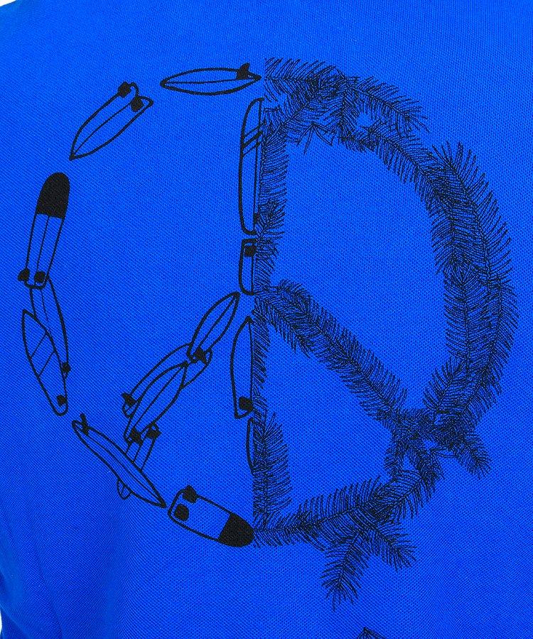 HO ワッペン&Peaceプリントポロのコーディネート写真
