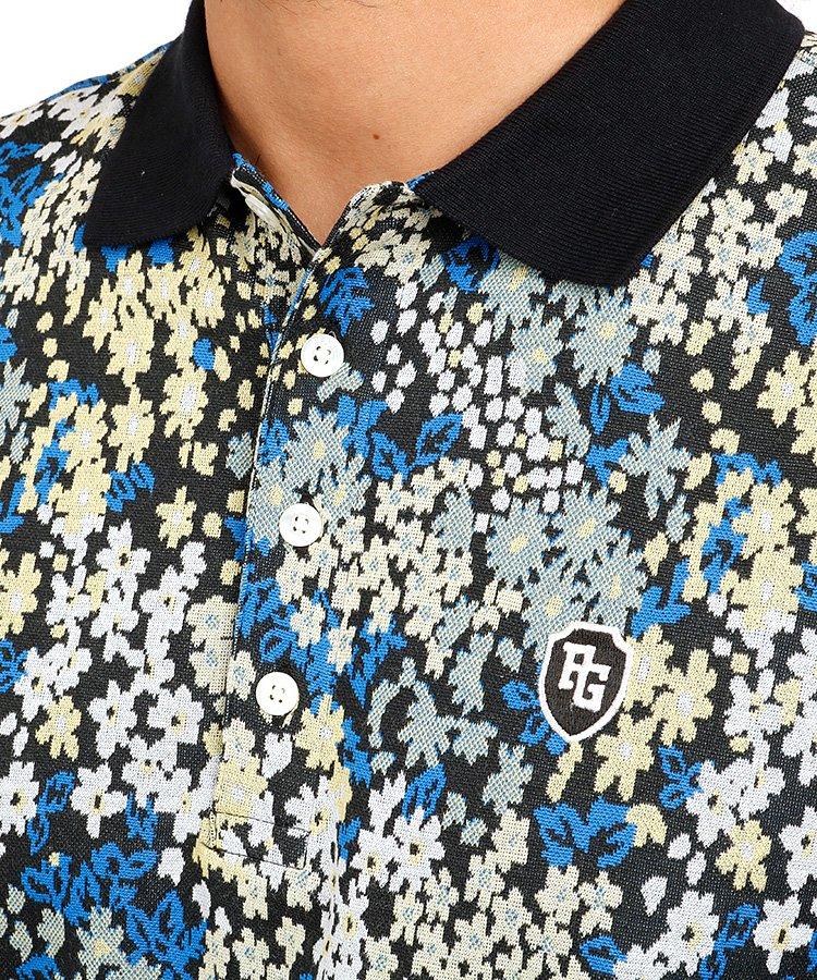 PG 花柄ジャガードコットンポロのコーディネート写真