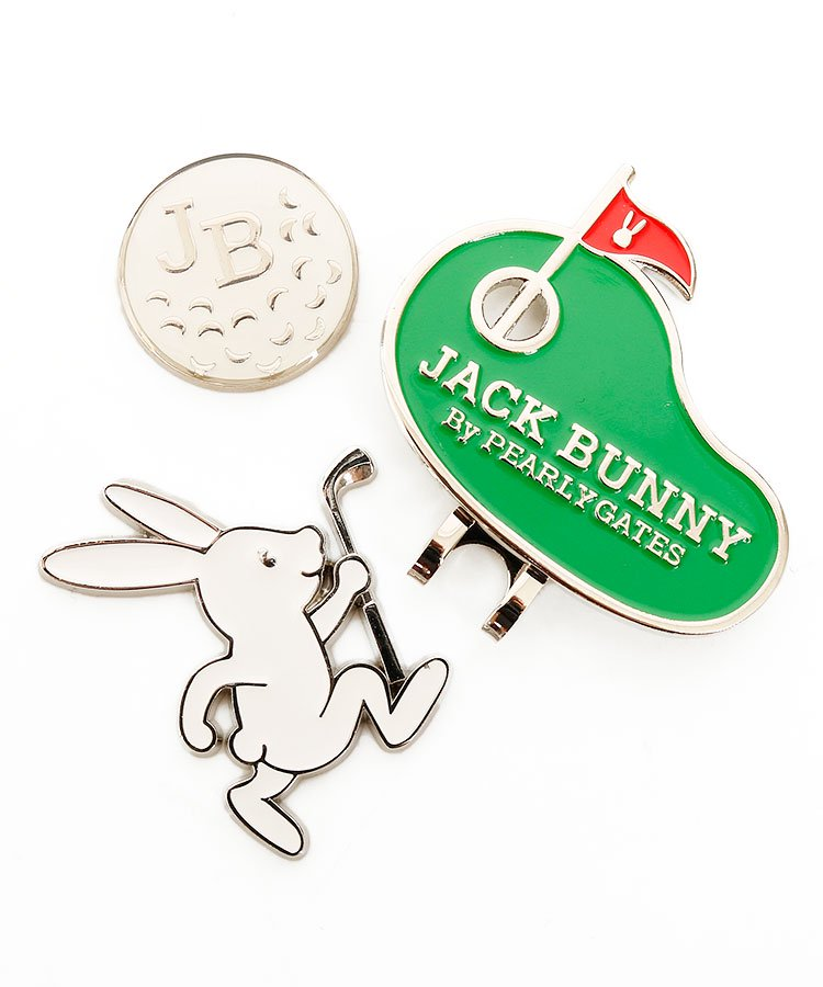 ジャックバニー JB GolfBunny×ボール★Wトップマーカー
