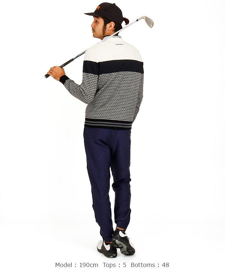 PG ダイヤジャガード切替セーターのコーディネート写真