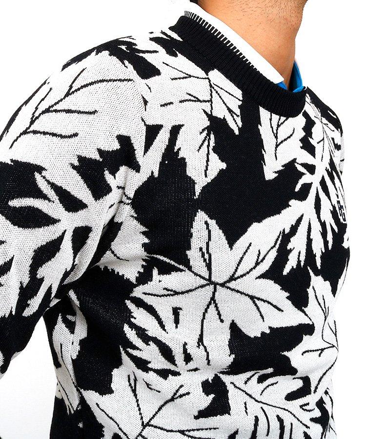 PG リーフジャガードセーターのコーディネート写真