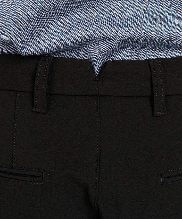 JL 裏フリース暖かスラックスパンツ_ブラックのコーディネート写真