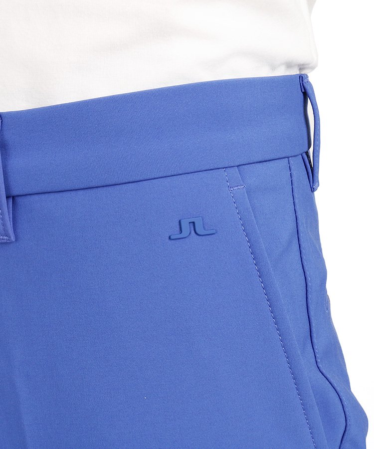 JL 裏フリース暖かスラックスパンツ_ブルーのコーディネート写真