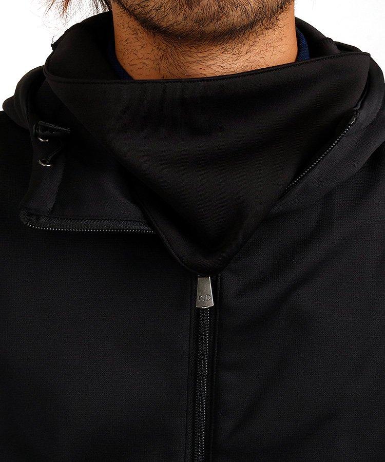 RD 裏起毛◆ネックウォーム付きジャージーパーカーのコーディネート写真