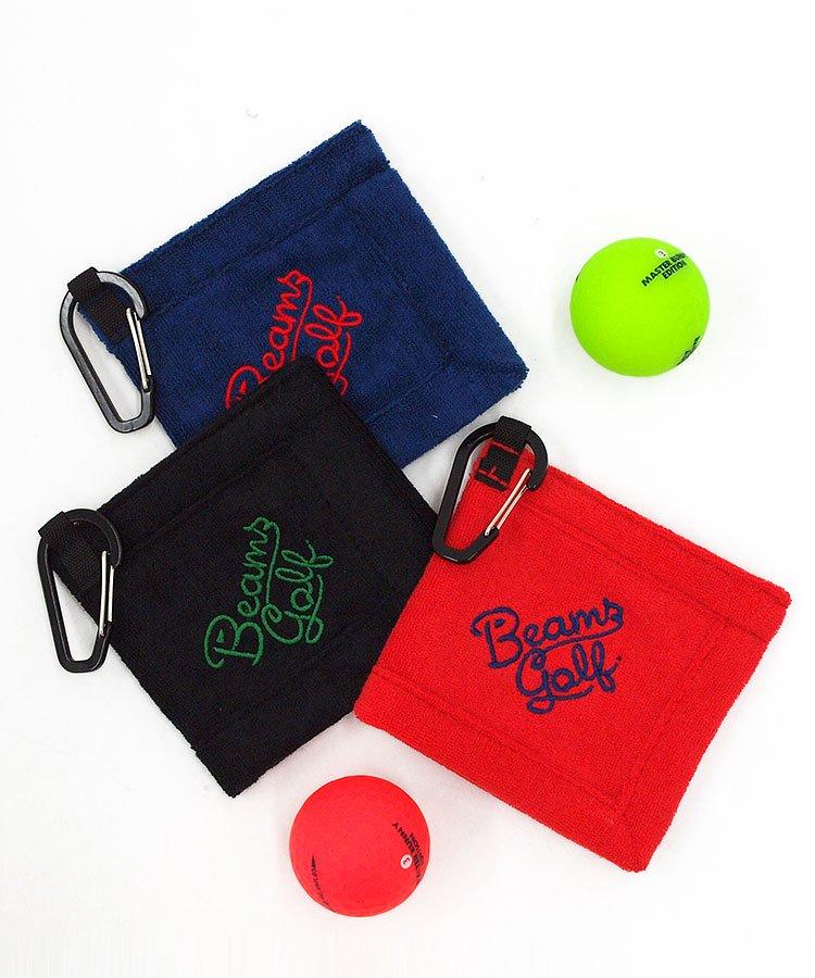 BEAMS GOLF BE ロゴ刺繍フック付ボールクリーナー