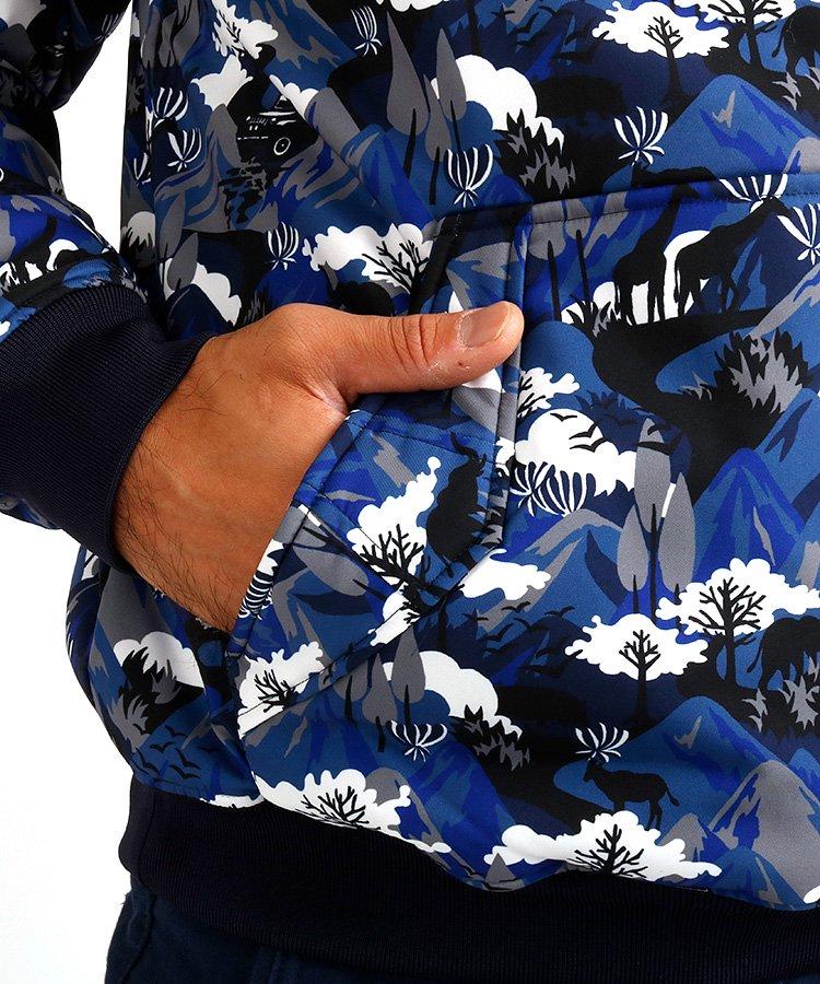 JB [HighFive]中綿入り◆サファリ&ジープ柄スニードのコーディネート写真