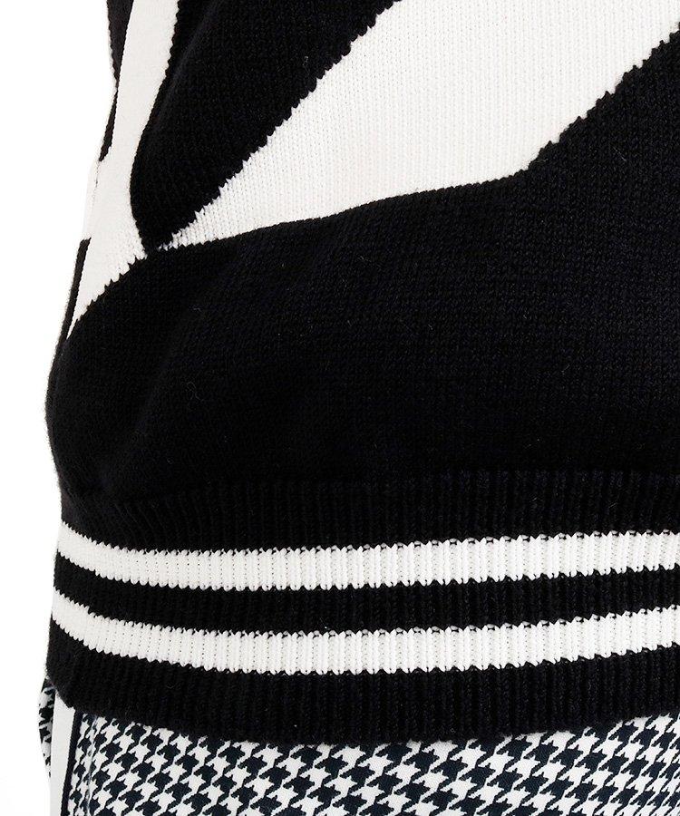 PG 【カタログ掲載】BIG千鳥デザインセーターのコーディネート写真