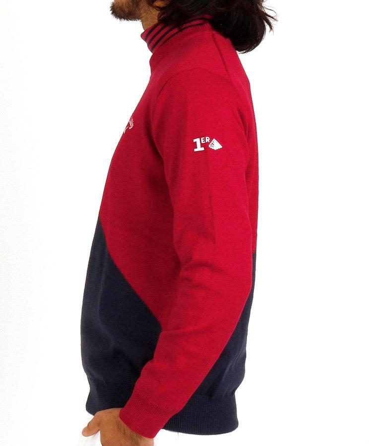 CA 防風裏地つき♪カラー切替セーターのコーディネート写真