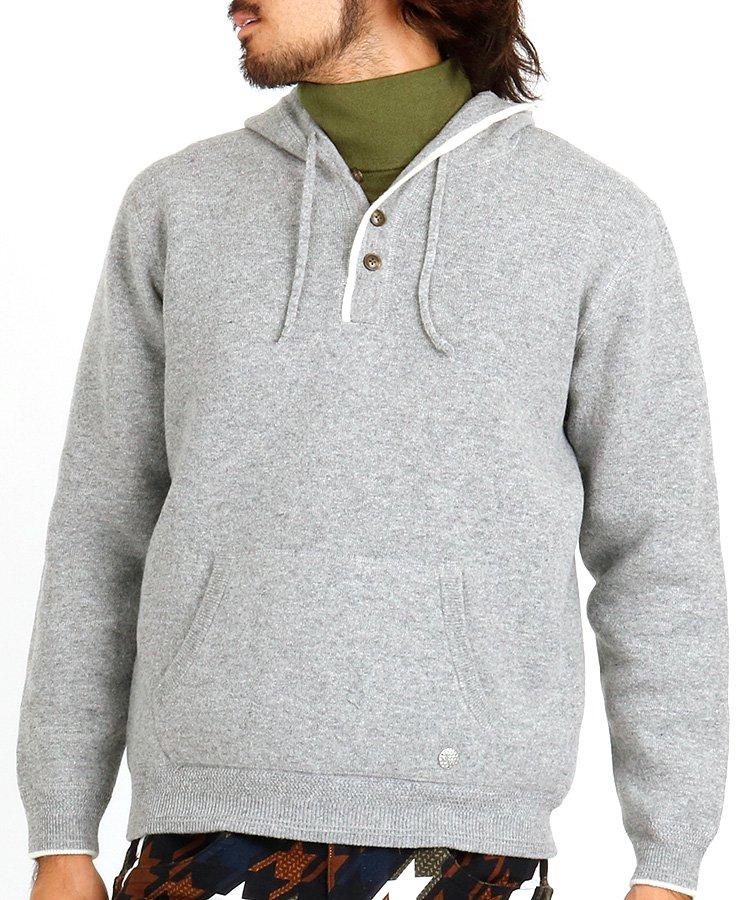 スツールズ ST ニット編みフーディーセーター