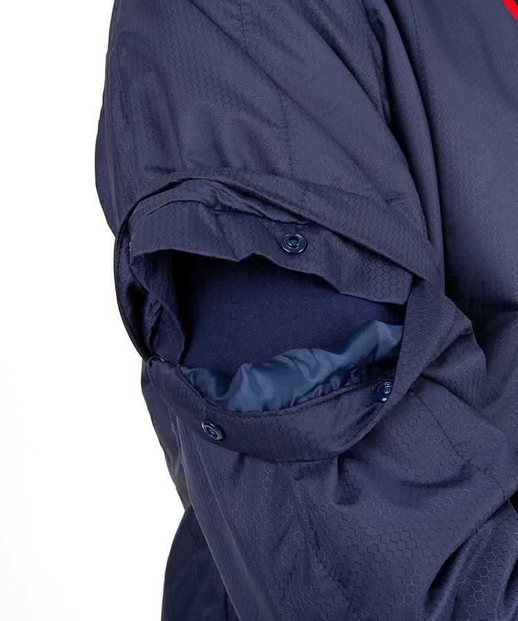 CA 撥水保温◆付け衿中綿スニードジャケットのコーディネート写真