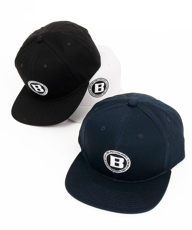ブリーフィングゴルフ BR 「B」ロゴ★フラットブリムキャップ