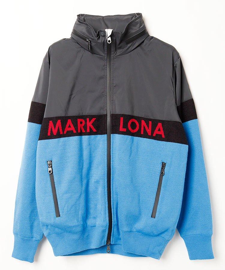 マーク&ロナ(MARK&LONA) ML ロゴジャガードニット&タフタブルゾン