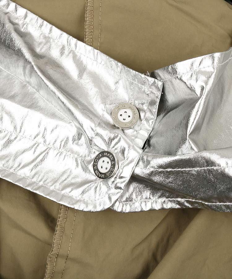 ML ロゴジャガードニット&タフタブルゾンのコーディネート写真