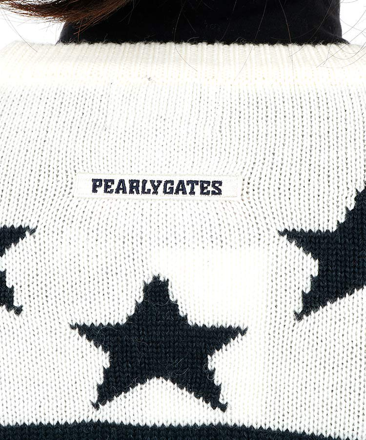 PG Star&ボーダー羊毛混セーターのコーディネート写真