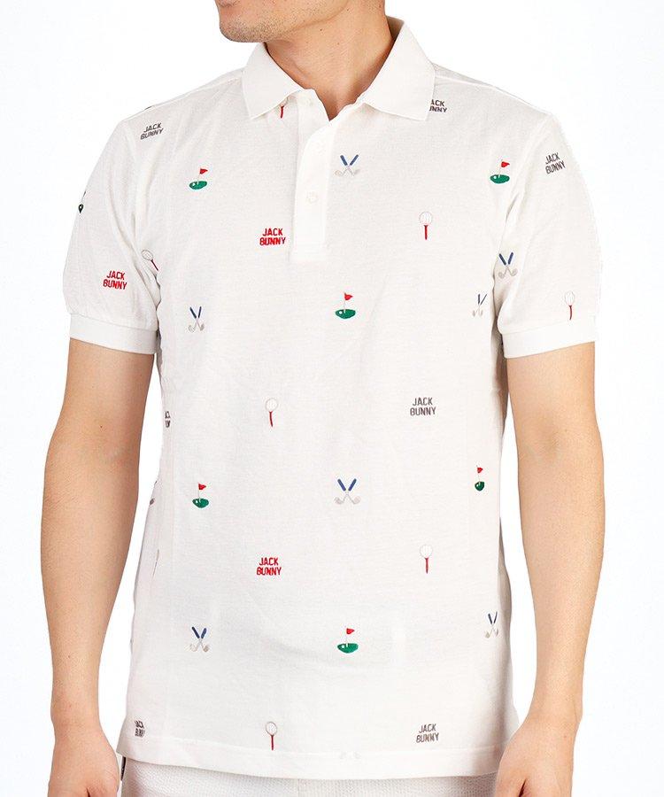 ジャックバニー JB ゴルフモチーフ刺しゅう◆ポロシャツ