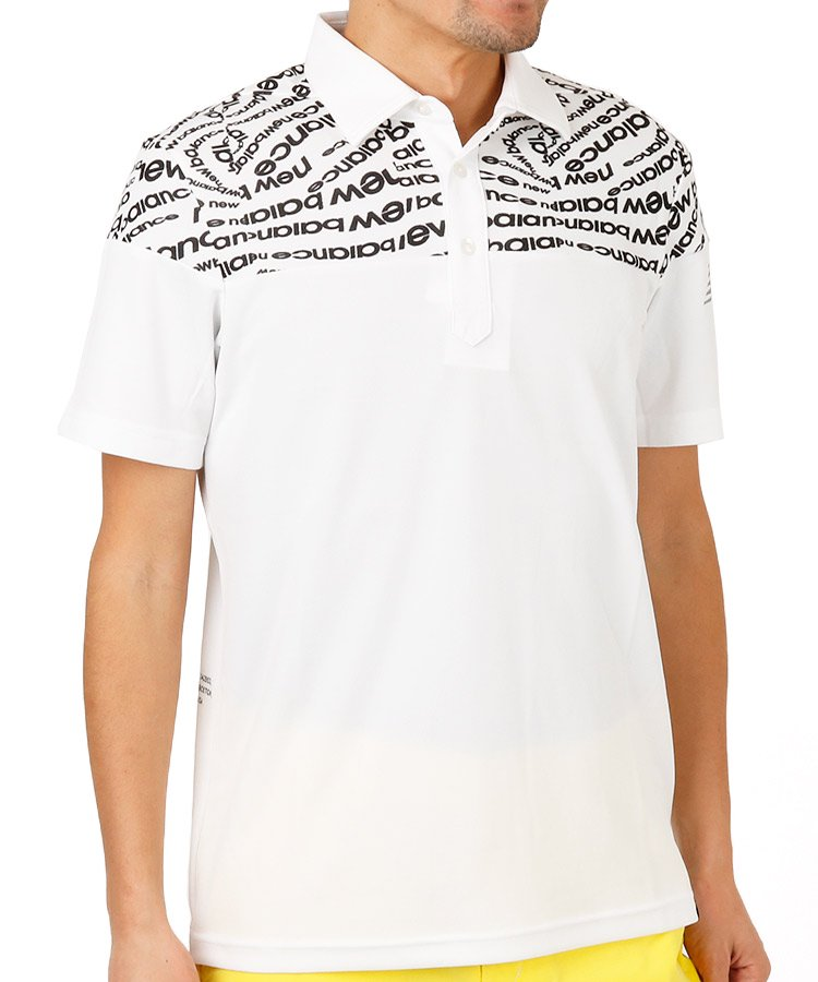 ニューバランスゴルフ NB 渦レタリングロゴ◆ポロシャツ