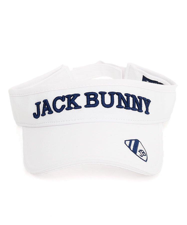 ジャックバニー JB 定番系エンブレムPoint刺繍ブリムバイザー