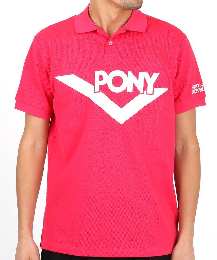 ジャックバニー 19春夏新作 JB 【Pony×Jackbunny】ビッグ「PONY」ロゴポロシャツ