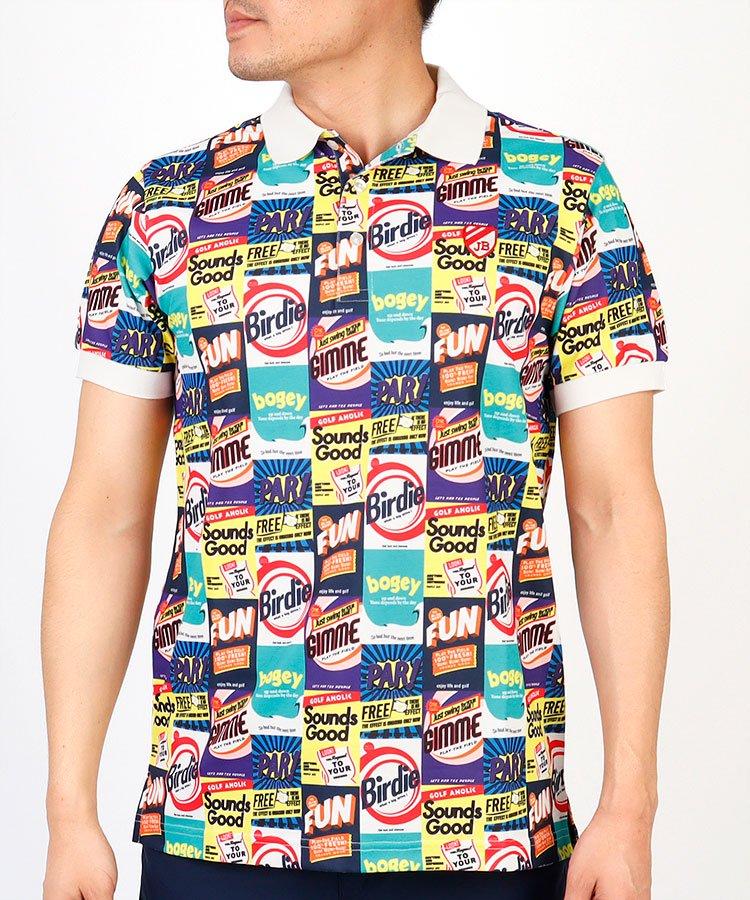 ジャックバニー 19春夏新作 JB Americanパッケージ柄ポロシャツ