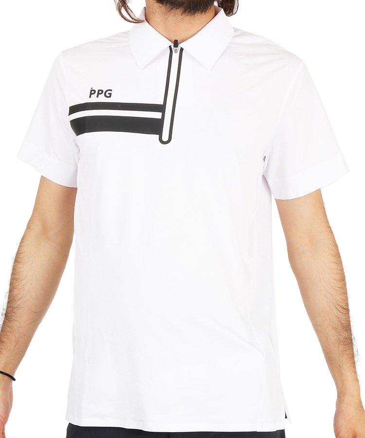 パーリーゲイツ19春夏 PG PPGジップアップポロシャツ