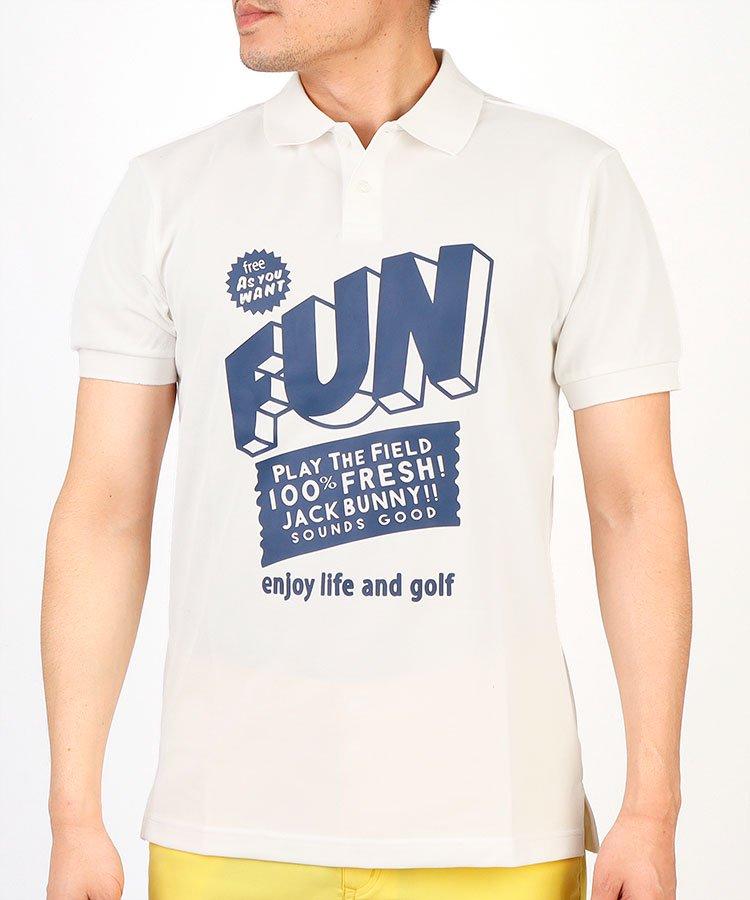 ジャックバニー19春夏 JB ビッグ「FUN」ロゴ◆ポロシャツ