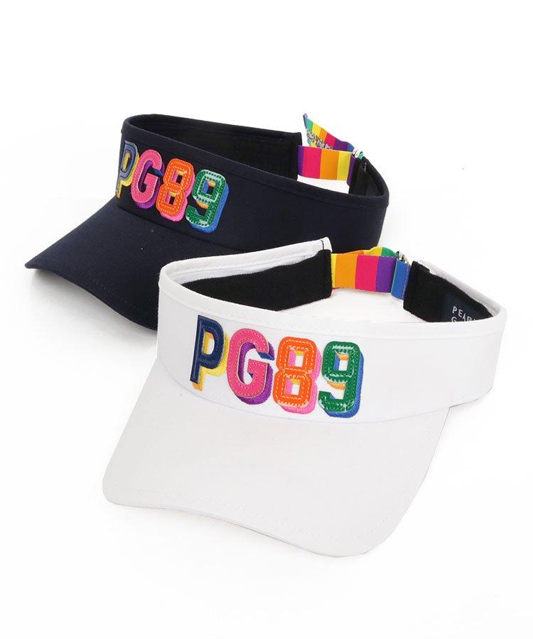 パーリーゲイツ 19春夏新作 PG Rainbow「PG89」★ロゴバイザー