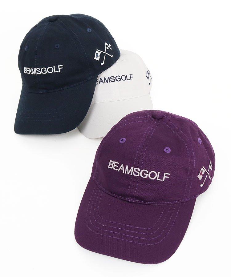 ビームスゴルフ 19秋冬新作 BE 「BEAMSGOLF」パネル刺繍キャップ