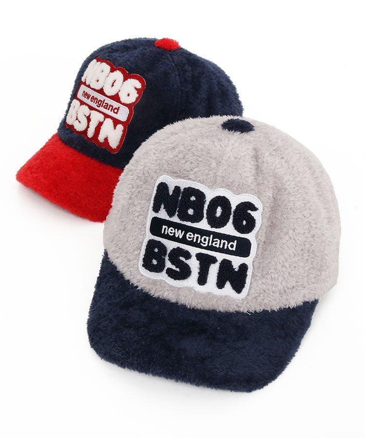 ニューバランスゴルフ 19秋冬新作 NB 配色◆BIGワッペン♪ふわボアキャップ