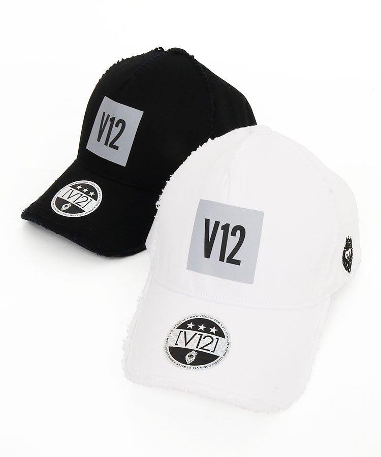 ヴィトゥエルヴ 19秋冬新作 VI 「V12」BOXロゴ◆ダメージ風キャップ