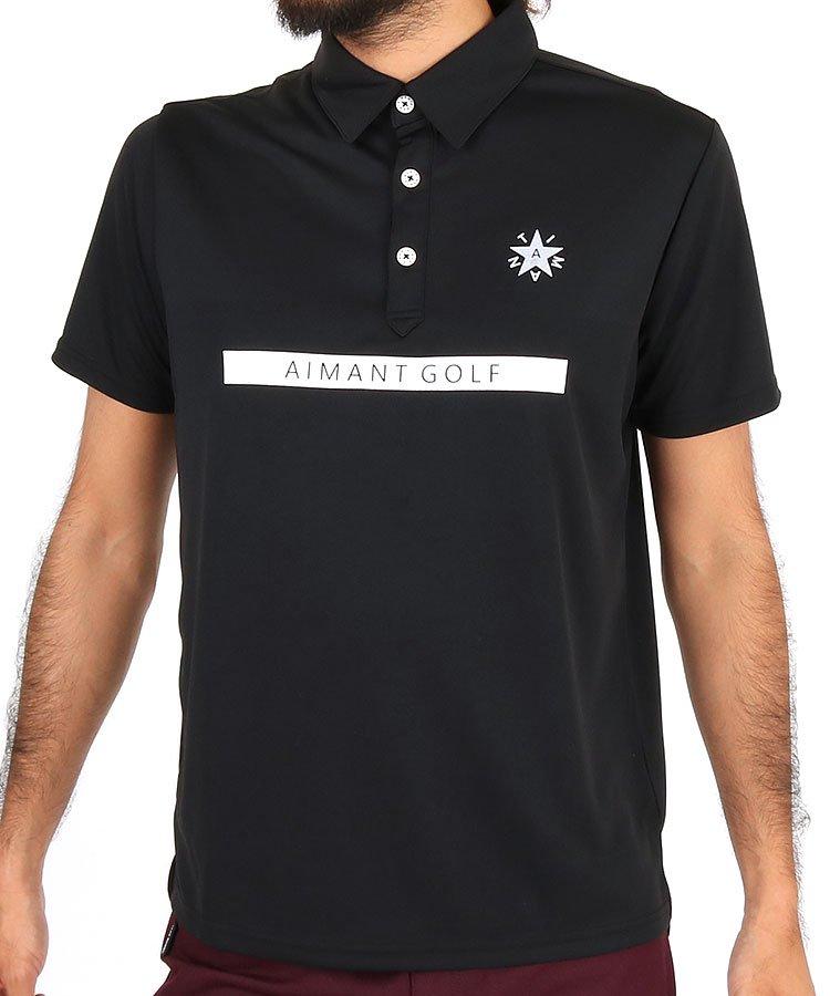 エマンゴルフ 19秋冬新作 AI スクウェアロゴポロシャツ