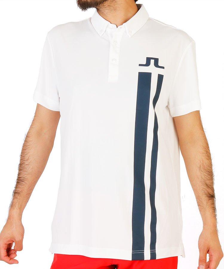 ジェイリンドバーグ 20春夏新作 JL 吸湿素材ロゴラインポロシャツ