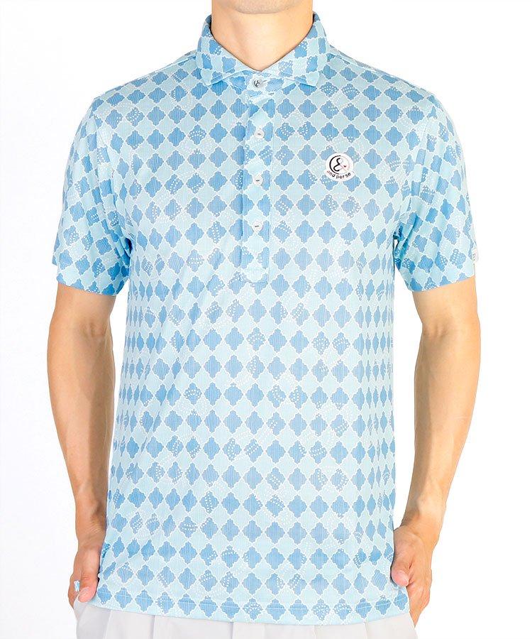 アンパスィ 20春夏新作 AP ダイヤ×ドットロープ柄ポロシャツ