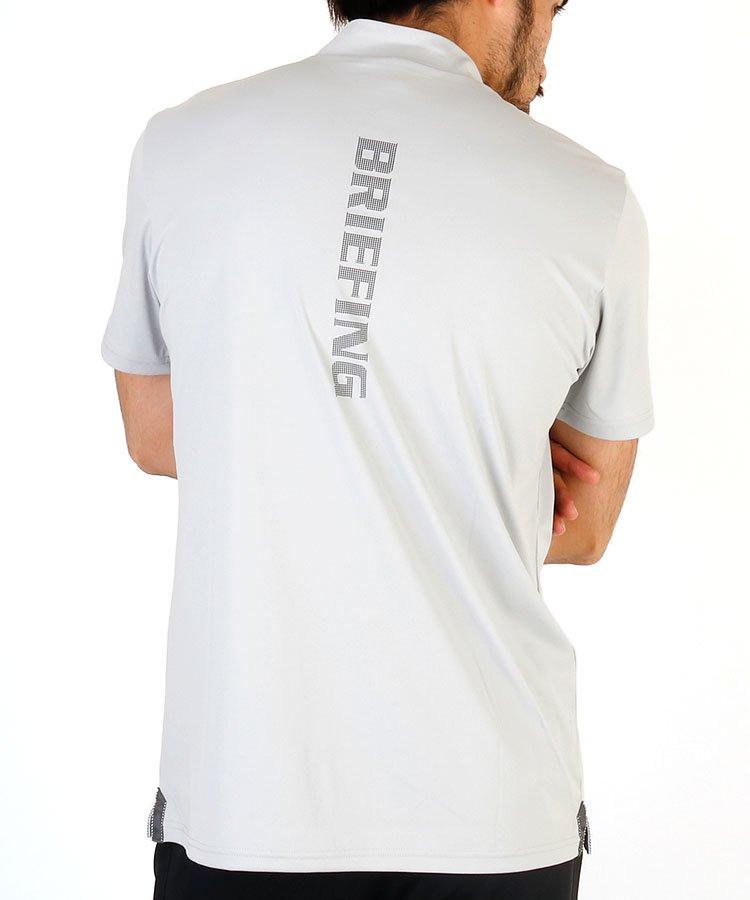 ブリーフィングゴルフ 20春夏新作 BR バックロゴ半袖モックネック