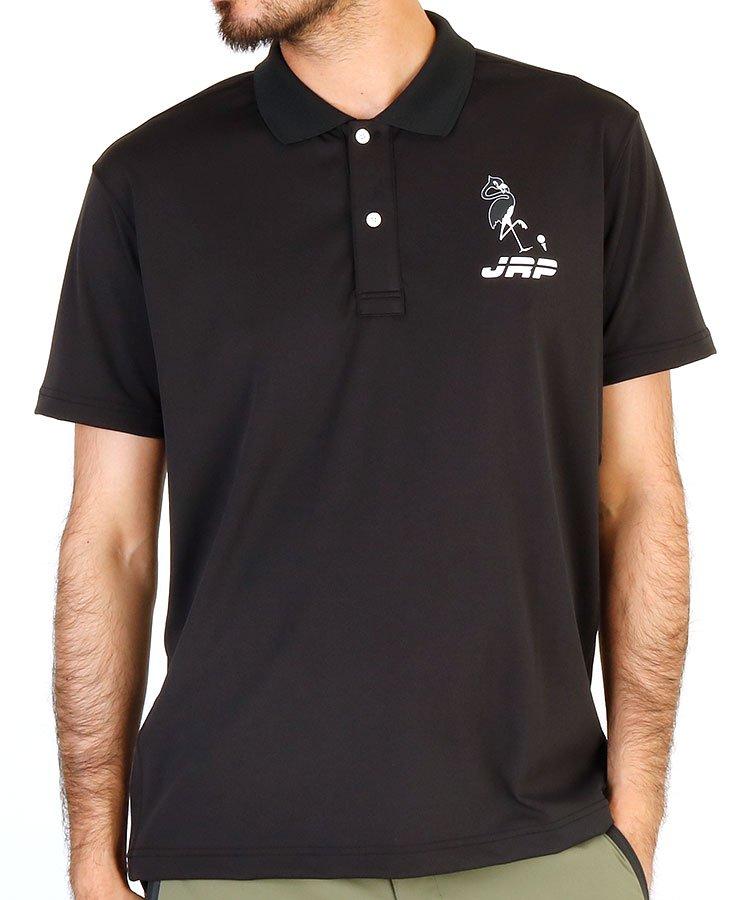 JR フラミンゴ柄プリント背中配色ポロシャツ