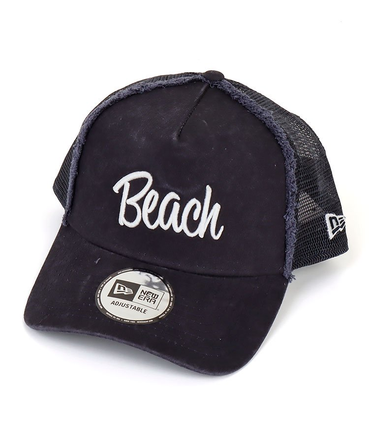 NE 「Beach」刺繍◆メッシュキャップ(ネイビー)