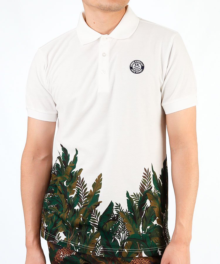HIGUMAのイチオシ内商品 ジャックバニー JB ボタニカル柄◆半袖ポロシャツ