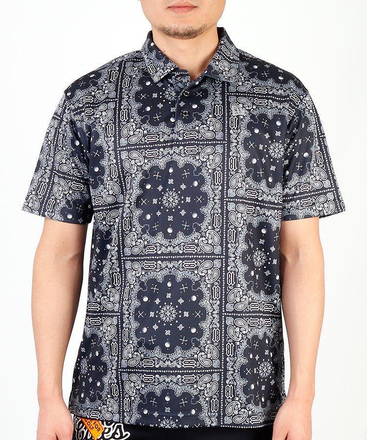 HIGUMAのイチオシ内商品 ニューエラ NE GOLFツールペイズリー柄◆半袖ポロシャツ