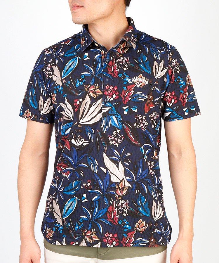 HIGUMAのイチオシ内商品 キャロウェイ CA DRY&COOL◆ボタニカル柄半袖ポロシャツ