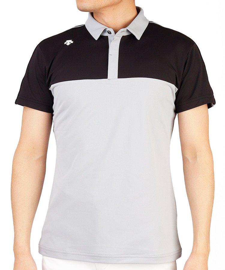 デサントゴルフ DE 汚れが落ちやすい◆ECOラインテープ半袖ポロシャツ