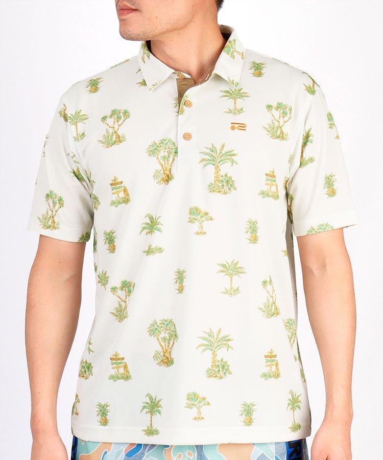 HIGUMAのイチオシ内商品 ロサーセン RO 吸水速乾◆パームツリー半袖ポロシャツ