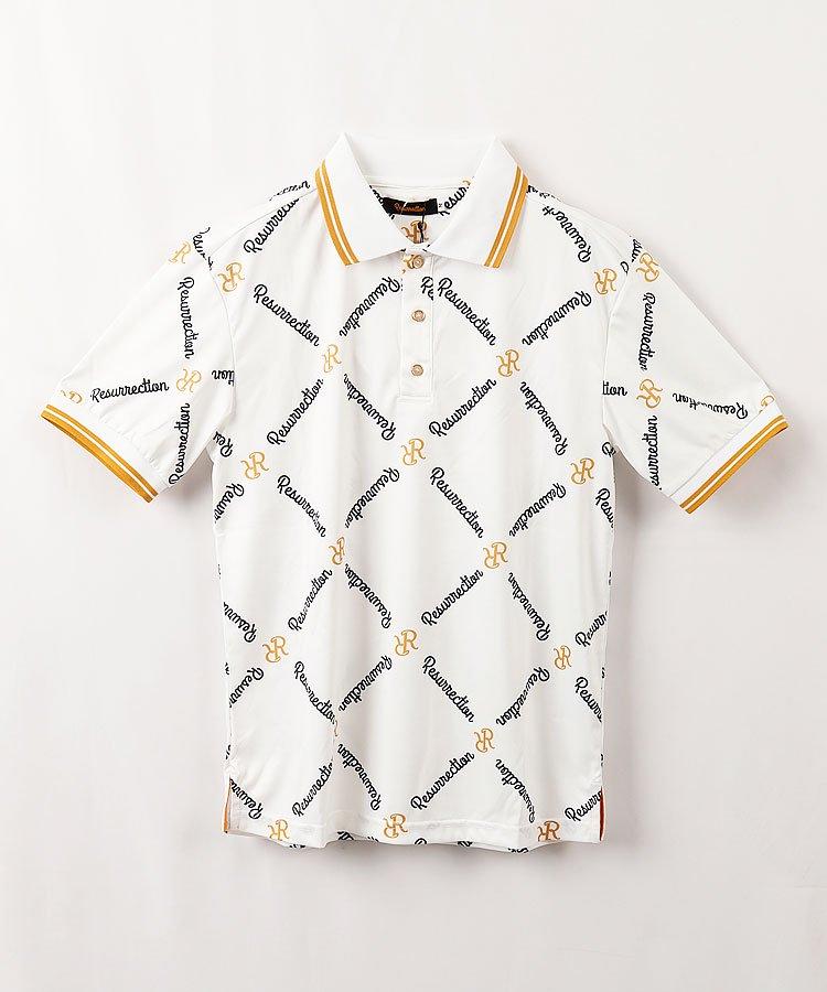 レザレクション RR ダイヤモンドパターン◆半袖ポロシャツ