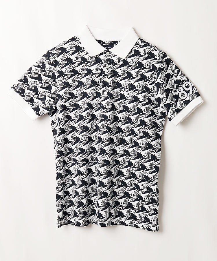 パーリーゲイツ PG 吸収拡散◆くじら柄半袖ポロシャツ