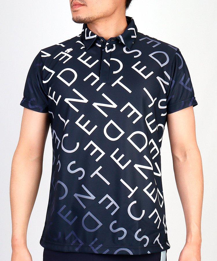デサントゴルフ DE 涼しさ続く◆アルファベット柄半袖ポロシャツ