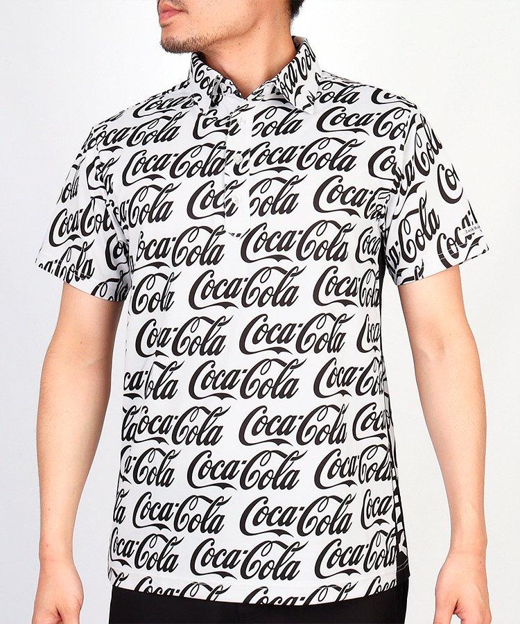 ジャックバニー JB CocaColaロゴ総柄◆半袖ポロシャツ