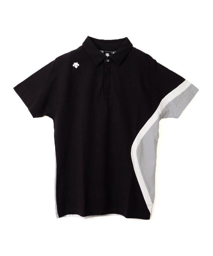 デサントゴルフ DE 配色切り替え◆半袖ポロシャツ