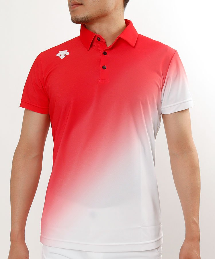 HIGUMAのイチオシ内商品 デサントゴルフ DE グラデーションカラー◆半袖ポロシャツ